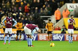 Ross McCormack of Aston Villa cuts a dejected figure - Mandatory by-line: Dougie Allward/JMP - 14/01/2017 - FOOTBALL - Molineux - Wolverhampton, England - Wolverhampton Wanderers v Aston Villa - Sky Bet Championship