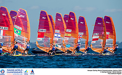 Aarhus, Denmark is hosting the 2018 Hempel Sailing World Championships from 30 July to 12 August 2018. More than 1,400 sailors from 85 nations are racing across ten Olympic sailing disciplines as well as Men's and Women's Kiteboarding. <br /> 40% of Tokyo 2020 Olympic Sailing Competition places will be awarded in Aarhus as well as 12 World Championship medals. ©JESUS RENEDO/SAILING ENERGY/AARHUS 2018<br /> 09 August, 2018.