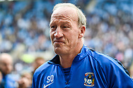 Coventry City Goalkeeping coach Steve Ogrizovic leaves the pitch and heads off in to retirement during the EFL Sky Bet League 1 match between Coventry City and Shrewsbury Town at the Ricoh Arena, Coventry, England on 28 April 2019.
