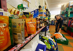Embargoed to 0001 Tuesday July 25 File photo dated 21/09/15 of a Trussell Trust foodbank. Half of children receiving supplies from foodbanks are aged between five and 11, new research has revealed.