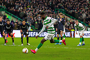 GOAL! - Odsonne Edouard of Celtic FC dispatches his penalty during the Europa League match between Celtic and FC Copenhagen at Celtic Park, Glasgow, Scotland on 27 February 2020.