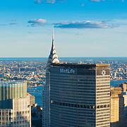 MetLife skyscraper and Chrysler building on Manhattan, New York