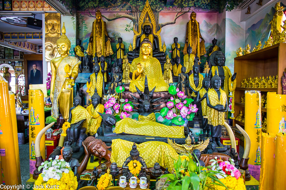 30 SEPTEMBER 2012 - BANGKOK, THAILAND: A Buddha at the Shiva Temple in the Raminthra neighborhood of Bangkok, Thailand. The temple is popular with Bangkok's Indian community.      PHOTO BY JACK KURTZ