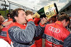 05.06.2011, Red Bull Ring, Spielberg, AUT, DTM Red Bull Ring, im Bild das Team von Martin Tomczyk, (GER,  Audi Sport Team Phoenix) feiert den Sieg // during the DTM race on the Red Bull Circuit in Spielberg, 2011/06/05, EXPA Pictures © 2011, PhotoCredit: EXPA/ S. Zangrando