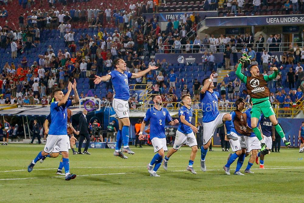 """Foto Alessandro Castaldi<br /> 16/06/2019 Bologna (Italia)<br /> Sport Italia - Spagna - UEFA Campionati Europei Under-21 20019 - Stadio """"Renato Dall'Ara""""<br /> Nella foto: CHIESA FEDERICO (ITALY) <br /> <br /> Photo Alessandro Castaldi<br /> June 16, 2019 Bologna (Italy)<br /> Sport Soccer<br /> Italy vs Spain - UEFA European Under-21 Championship 2019 - """"Renato Dall'Ara"""""""" Stadium <br /> In the pic: CHIESA FEDERICO (ITALY)"""