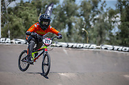 #777 (MAIRE Camille) FRA during practice at round 1 of the 2018 UCI BMX Supercross World Cup in Santiago del Estero, Argentina.