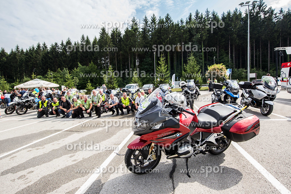 Motor riders after the 5th Time Trial Stage of 25th Tour de Slovenie 2018 cycling race between Trebnje and Novo mesto (25,5 km), on June 17, 2018 in  Slovenia. Photo by Vid Ponikvar / Sportida