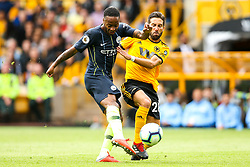 Raheem Sterling of Manchester City shoots at goal - Mandatory by-line: Robbie Stephenson/JMP - 25/08/2018 - FOOTBALL - Molineux - Wolverhampton, England - Wolverhampton Wanderers v Manchester City - Premier League
