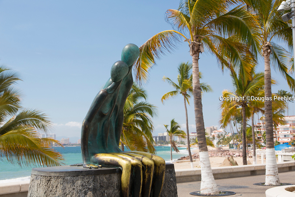 """Nostalgia"" by Mexican artist, Ramiz Barquet, The Malecon, Puerto Vallarta, Jalisco, Mexico"