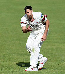 Somerset's Tim Groenewald - Photo mandatory by-line: Harry Trump/JMP - Mobile: 07966 386802 - 29/04/15 - SPORT - CRICKET - LVCC Division One - County Championship - Somerset v Middlesex - Day 4 - The County Ground, Taunton, England.