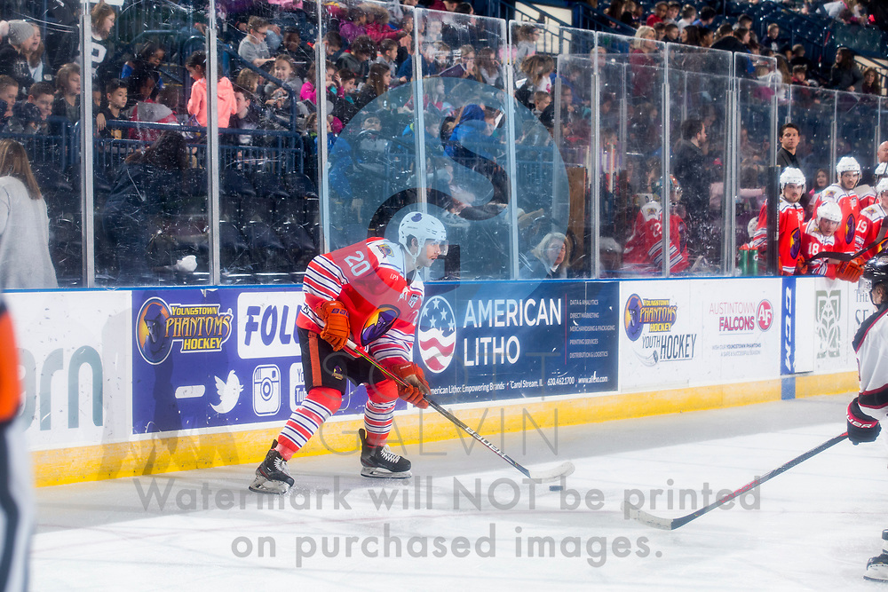 The Youngstown Phantoms lose 5-4 in overtime to the Chicago Steel at the Covelli Centre on February 26, 2020.<br /> <br /> Matthew Cassidy, forward, 20