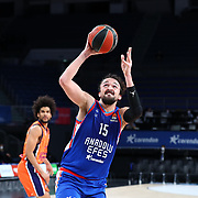 Anadolu Efes's and Valencia Basket's during their Turkish Airlines Euroleague Basketball 2020-2021 Regular Season Round 27 match Anadolu Efes between Valencia Basket at the Sinan Erdem Sports Hall on March 02, 2021 in Istanbul, Turkey. Photo by Aykut AKICI/TURKPIX