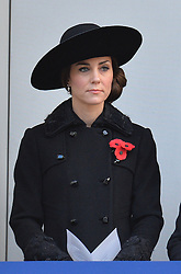 The Duchess of Cambridge during the annual Remembrance Sunday Service at the Cenotaph memorial in Whitehall, central London, held in tribute for members of the armed forces who have died in major conflicts.