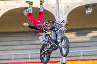 French Fmx rider David Rinaldo during qualifying Red Bull X-Fighters 2016 at Madrid. 22,06,2016. (ALTERPHOTOS/Rodrigo Jimenez)