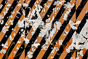 Decaying striped wall on 21st April 2021 in Blackpool, Lancashire, United Kingdom.