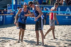 25-08-2019 NED: DELA NK Beach Volleyball, Scheveningen<br /> Last day NK Beachvolleyball / Alexander Brouwer #1, Christiaan Varenhorst #2