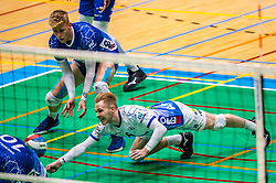 Steven Ottevanger of Lycurgus, Bennie Tuinstra of Lycurgus in action during the semi cupfinal between Active Living Orion vs. Amysoft Lycurgus on April 03, 2021 in Saza Topsportshall Doetinchem