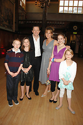 PETER & KAREN DOHERTY and their children left to right, CIAN, ANYA, NATASHA and ALEXANDRA at a party to celebrate the publication of 'Seven Secrets of Successful Parenting' by Karen Doherty and Georgia Coleridge, held at Chelsea Town Hall, King's Road, London on 28th April 2008.<br /><br />NON EXCLUSIVE - WORLD RIGHTS