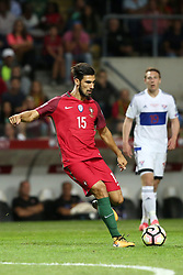 August 31, 2017 - Porto, Portugal - Portugal's midfielder Andre Gomes in action during the 2018 FIFA World Cup qualifying football match between Portugal and Faroe Islands at the Bessa XXI stadium in Porto, Portugal on August 31, 2017. (Credit Image: © Pedro Fiuza/NurPhoto via ZUMA Press)