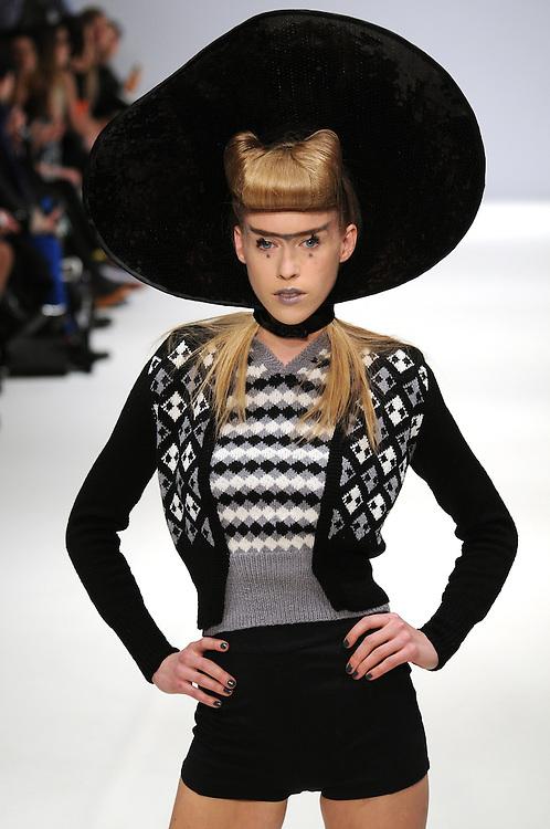 Models walk the runway for Pam Hogg AW 2012 fashion show during London Fashion Week, London, UK. 19/02/2012 Anne-Marie Michel/CatchlightMedia