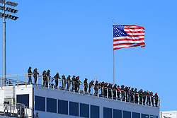 March 23, 2019 - Martinsville, VA, U.S. - MARTINSVILLE, VA - MARCH 23:   Spotters high above the track during the 21st running of the NASCAR Gander Outdoors Truck Series TruNorth Global 250 race on March 23, 2019 at the Martinsville Speedway in Martinsville, VA.  (Photo by David John Griffin/Icon Sportswire) (Credit Image: © David J. Griffin/Icon SMI via ZUMA Press)