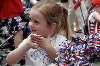 """The 2006 Fourth of July children's parade in Norwood MA where hundred's of decorated bikes, tricycles and various historical figures walk down Washington Street to the town common. Search on """"children"""" to see all the photos from the day and contact me for copies of your favorite photos."""