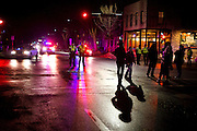 Protestors block traffic on Williamson Street in Madison, Wisconsin on Sunday night for Tony Robinson, March 8, 2015. Robinson was an unarmed black teen shot on Friday by Madison Police inside his home. REUTERS/Ben Brewer (UNITED STATES)