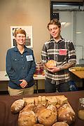 Julie Dawson, UW- Madison, and Dillon Debauche, Little T Baker. Debauche baked a fermented bread out of Dawson's Editson Wheat.