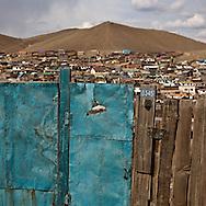 Mongolia. Gers area ,yurts , poor area and suburb of Ulaanbaatar