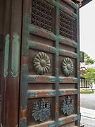 Doors at the Higashi-Honganji Temple, Kyoyo, Japan