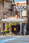 Brea Downtown Welcome Sign Corner of Brea Blvd and Birch Street