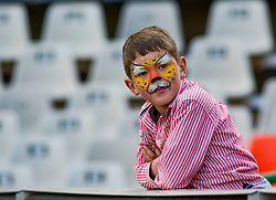 Young supporter during the Currie Cup 1st division match between the The Free State Cheetahs and the Blue Bulls held at Toyota Stadium (Free State Stadium), Bloemfontein, South Africa on the 13th August 2016<br /> <br /> Photo by:   Frikkie Kapp / Real Time Images