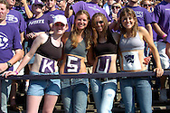Kansas State coeds show their school pride, during the Wildcats game with Oklahoma State at Bill Snyder Family Stadium in Manhattan, Kansas, October 7, 2006.  The Wildcats beat the Cowboys 31-27.<br />