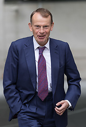 © Licensed to London News Pictures. 03/09/2017. LONDON, UK.  ANDREW MARR leaves BBC Broadcasting House after the Andrew Marr show. Photo credit: Vickie Flores/LNP