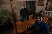 COLUMBIA, MD -- 12/20/14 -- Mark Johnson-Lewis, 48, and his son, Tyler Lewis, 22, talk about the complexity of being a biracial family..…by André Chung #_AC17511