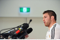 24 June 2013; Sean O'Brien, British & Irish Lions, during a press conference ahead of their match against Melbourne Rebels on Tuesday. British & Irish Lions Tour 2013, Press Conference. AAMI Park, Olympic Boulevard, Melbourne, Australia. Picture credit: Stephen McCarthy / SPORTSFILE