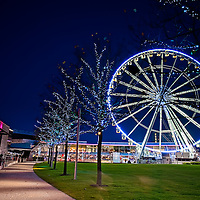 Liverpool One Wheel taken at dusk from Chavasse Park