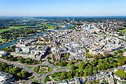 Nederland, Gelderland, Arnhem, 30-09-2015; binnenstad van Arnhem. Zicht op Airbornplein, Musispark, Eusebiussingel en Nijmeegseweg.<br /> View of the city of Arnhem. Binnenstad met Sint-Eusebiuskerk (Eusebius, Eusebiuskerk of Grote Kerk) en Neder-rijn.<br /> luchtfoto (toeslag op standard tarieven);<br /> aerial photo (additional fee required);<br /> copyright foto/photo Siebe Swart