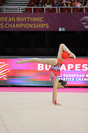 Ida Zorec, Slovenia, during day one of the 33rd European Rhythmic Gymnastics at Papp Laszlo Budapest Sports Arena, Budapest, Hungary on 19 May 2017. Photo by Myriam Cawston.