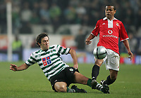 """PORTUGAL - LISBOA 08 JANUARY 2005: HUGO VIANA #45 and GEOVANNI #8 in the 16¼ leg of the Super Liga, season 2004/2005, match  Sporting CP vs SL Benfica (2 - 1), held in """"Alvalade XXI"""" stadium,  08/01/2005  22:37:22<br />(PHOTO BY: NUNO ALEGRIA/AFCD)<br /><br />PORTUGAL OUT, PARTNER COUNTRY ONLY, ARCHIVE OUT, EDITORIAL USE ONLY, CREDIT LINE IS MANDATORY<br /> AFCD-PHOTO AGENCY 2005 © ALL RIGHTS RESERVED"""