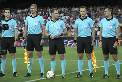 May 9, 2019 - Valencia, Valencia, Spain - Referees during UEFA Europa League football match, between Valencia and Arsenal, May 09th, in Mestalla stadium in Valencia, Spain. (Credit Image: © AFP7 via ZUMA Wire)