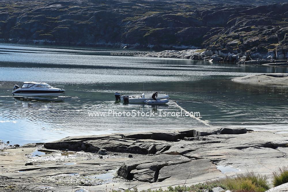 landscape on the shores of Disko Bay, Western Greenland