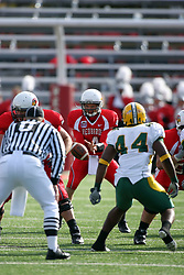 25 October 2008: Drew Kiel steps in for injured Kevin Brockway taking the snap from center in a game which the North Dakota Bison defeated the Illinois State Redbirds at Hancock Stadium on campus of Illinois State University in Normal Illinois