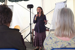 Home Education Festival participants at a discussion workshop led by Fiona Nicholson, a leading authority and advocate of Home Education. UK 2014