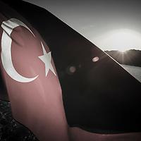 Istanbul, Turkey 06 July 2005<br /> Turkish  flag.<br /> Photo: Ezequiel Scagnetti