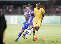 13052018 (Durban) Maritzburg player Andrea Feliccia tackle with Lehlohonolo Nonyane during Maritzburg United drew 1-1 with Lamontville Golden Arrows in an Absa Premiership match at the Harry Gwala Stadium in Pietermaritzburg on Saturday afternoon.<br /> Picture: Motshwari Mofokeng/African News Agency/ANA
