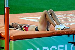 01-08-2010 ATLETIEK: EUROPEAN ATHLETICS CHAMPIONSHIPS: BARCELONA<br /> Tia Hellebaut BEL - High Jump Final <br /> ©2010-WWW.FOTOHOOGENDOORN.NL