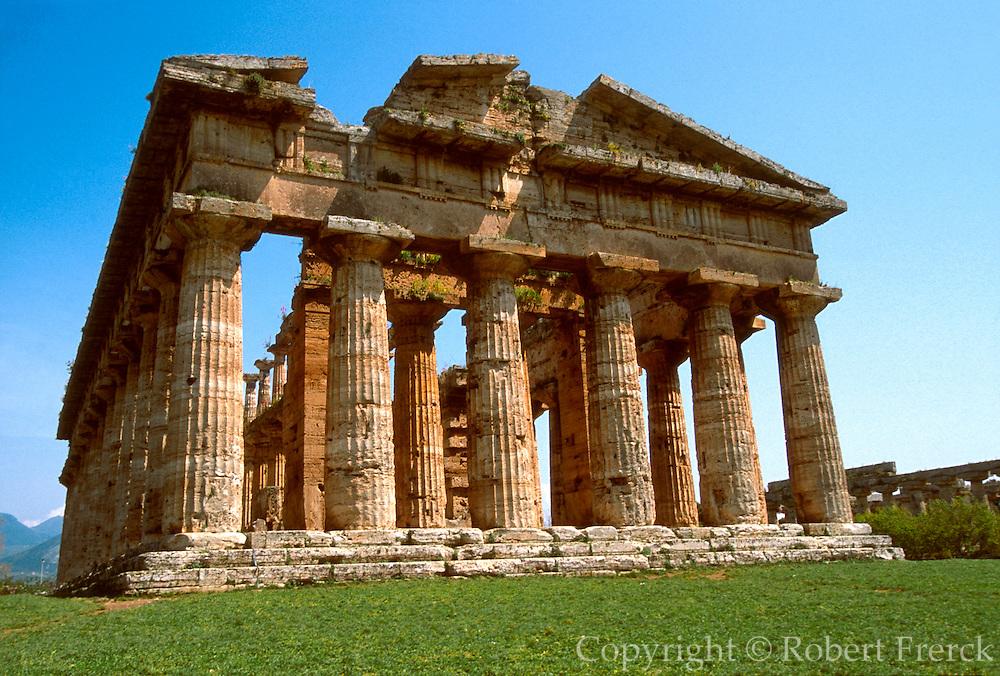 ITALY, GREEK CULTURE Paestum; Doric Temple of Neptune