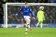 Tom Davies of Everton in action. Premier league match, Everton v Leicester City at Goodison Park in Liverpool, Merseyside on Wednesday 31st January 2018.<br /> pic by Chris Stading, Andrew Orchard sports photography.