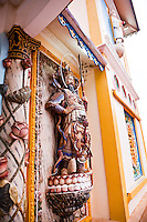 Statue representing the personification of good on the front of the Great Divine Temple of Cao Dai in Tay Ninh.
